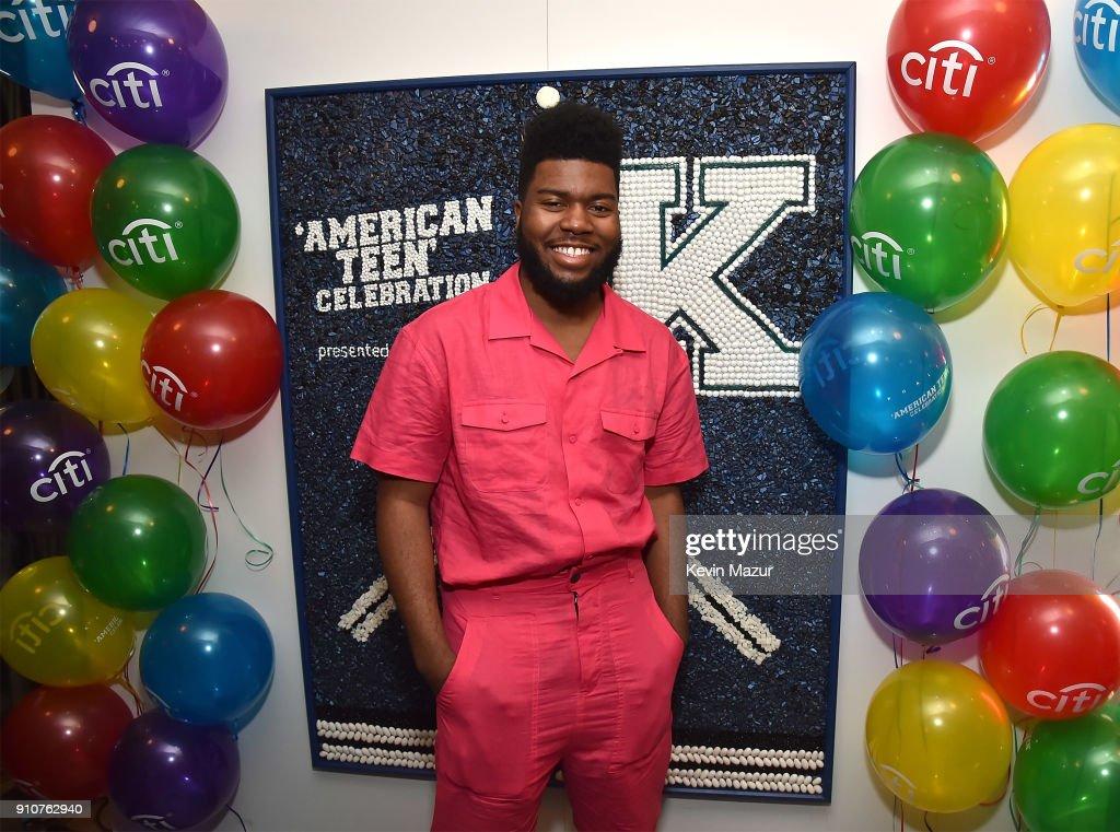 Citi celebrates 5X GRAMMY nominated artist Khalid at 'American Teen' Event : Nyhetsfoto