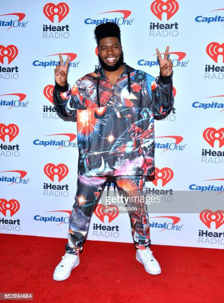 Khalid attends the 2017 iHeartRadio Music Festival at TMobile Arena on September 23 2017 in Las Vegas Nevada