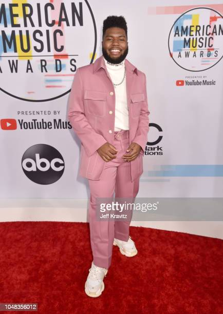 Khalid attends the 2018 American Music Awards at Microsoft Theater on October 9 2018 in Los Angeles California