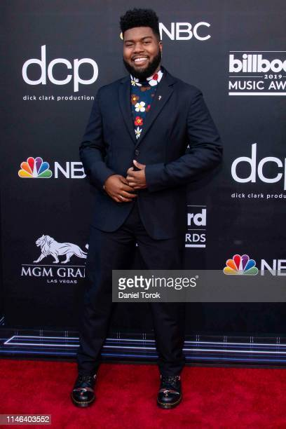 Khalid attends the 2019 Billboard Music Awards at MGM Grand Garden Arena on May 1 2019 in Las Vegas Nevada