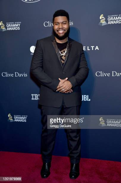 """Khalid attends the Pre-GRAMMY Gala and GRAMMY Salute to Industry Icons Honoring Sean """"Diddy"""" Combs on January 25, 2020 in Beverly Hills, California."""