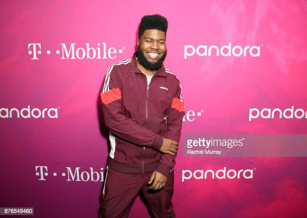Khalid attends TMobile Presents Club Magenta Powered by Pandora at Exchange LA on November 19 2017 in Los Angeles California