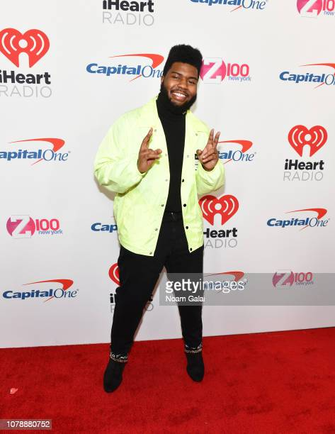 Khalid attends Z100's Jingle Ball 2018 at Madison Square Garden on December 07 2018 in New York City