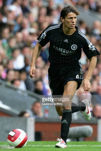 Khalid Boulahrouz of Chelsea in action during the Barclays Premiership match between Blackburn Rovers and Chelsea at Ewood Park on August 27 2006 in...