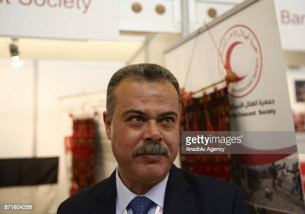 Khalid Joudeh DirectorGeneral of Palestinian Red Crescent speaks to Anadolu Agency during the International Federation of Red Cross and Red Crescent...