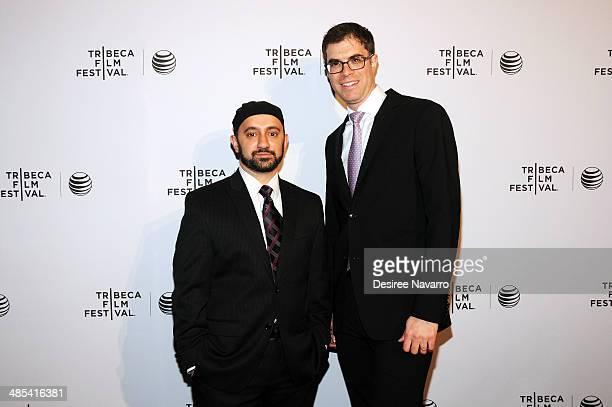 Khalid Latif and Rabbi Yehuda Sarna attend the Shorts Program City Limits during the 2014 Tribeca Film Festival at AMC Loews Village 7 on April 17...