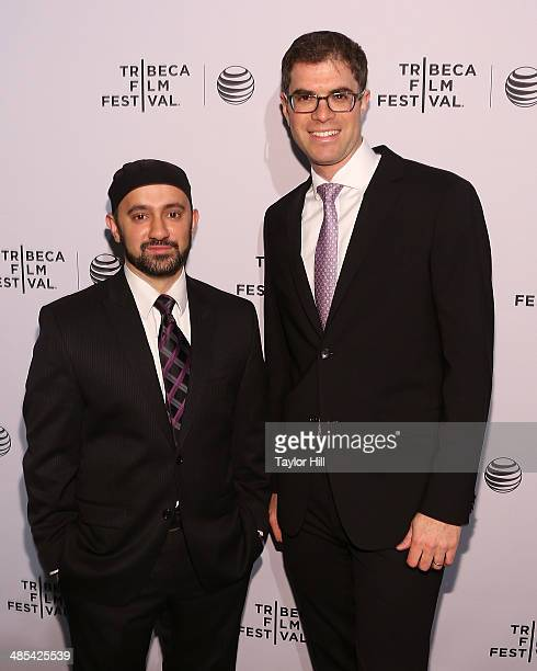 Khalid Latif and Yehuda Sarna attend the Shorts Program City Limits during the 2014 Tribeca Film Festival at AMC Loews Village 7 on April 17 2014 in...