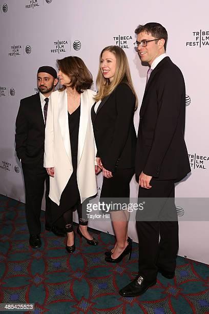 Khalid Latif Linda Mills Chelsea Clinton and Yehuda Sarna attend the Shorts Program City Limits during the 2014 Tribeca Film Festival at AMC Loews...