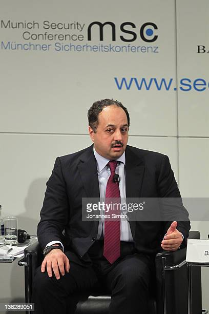 Khalid Mohamed A AlAttiyah Qatar minister of foreign affairs participates in a panel discussion during day 3 of the 48th Munich Security Conference...