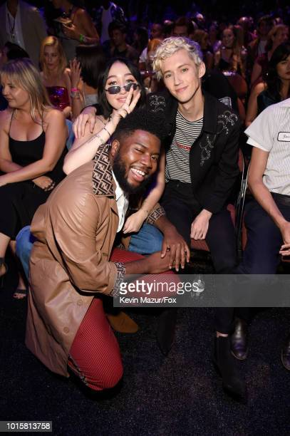Khalid Noah Cyrus and Troye Sivan attend FOX's Teen Choice Awards at The Forum on August 12 2018 in Inglewood California