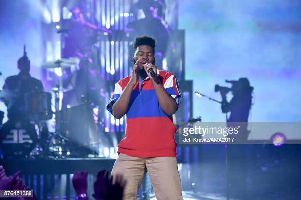Khalid onstage during the 2017 American Music Awards at Microsoft Theater on November 19 2017 in Los Angeles California