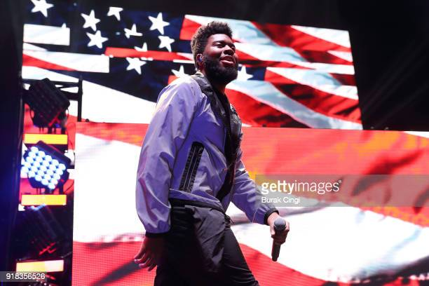 Khalid performs at Eventim Apollo on February 14 2018 in London England