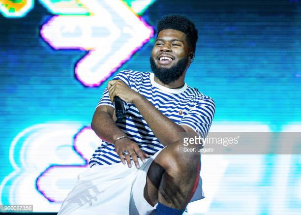 Khalid performs at Meadow Brook Amphitheatre on June 1 2018 in Rochester Michigan