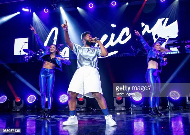 Khalid performs at Meadow Brook Amphitheatre on June 1, 2018 in Rochester, Michigan.