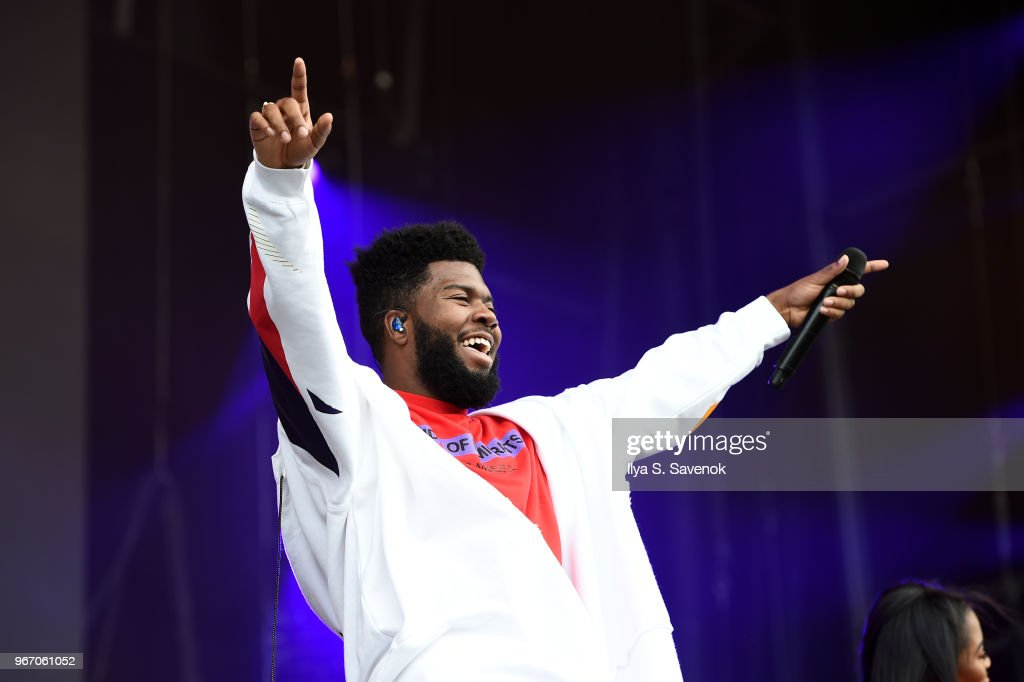 Khalid performs during 2018 Governors Ball Music Festival - Day 3 on June 3, 2018 in New York City.