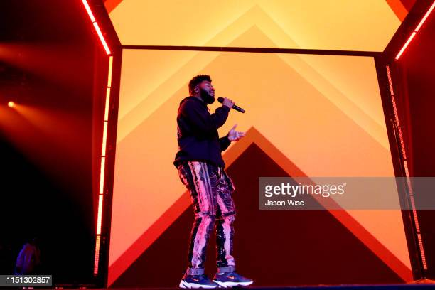 Khalid performs during his Free Spirit world tour opening night on June 20 2019 in Glendale Arizona