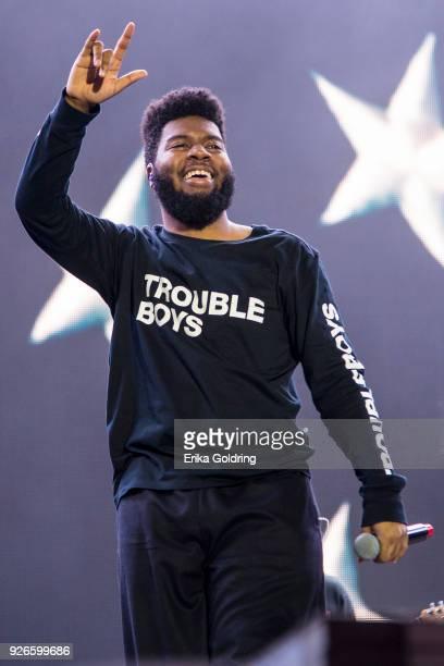 Khalid performs during Okeechobee Festival at Sunshine Grove on March 2 2018 in Okeechobee Florida