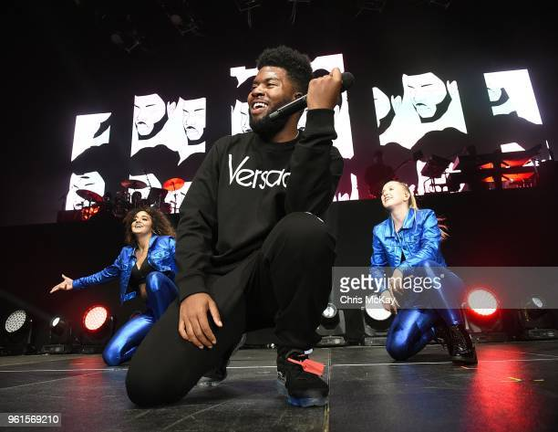 Khalid performs during The Roxy Tour at Infinite Energy Arena on May 22 2018 in Duluth Georgia