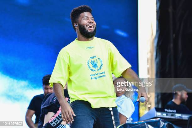 Khalid performs on Day 1 of Austin City Limits Festival at Zilker Park on October 5, 2018 in Austin, Texas.