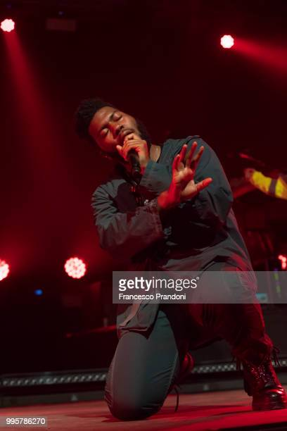 Khalid performs on stage at Circolo Magnolia on July 10 2018 in Milan Italy