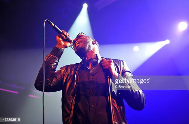 Khalid performs on stage at KOKO on February 27 2014 in London United Kingdom