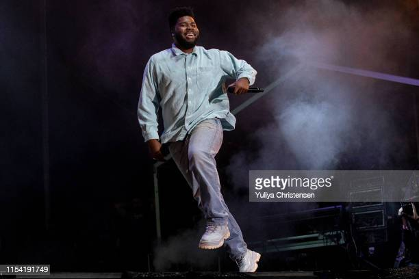 Khalid performs on stage at the Northside Festival on June 06, 2019 in Aarhus, Denmark.
