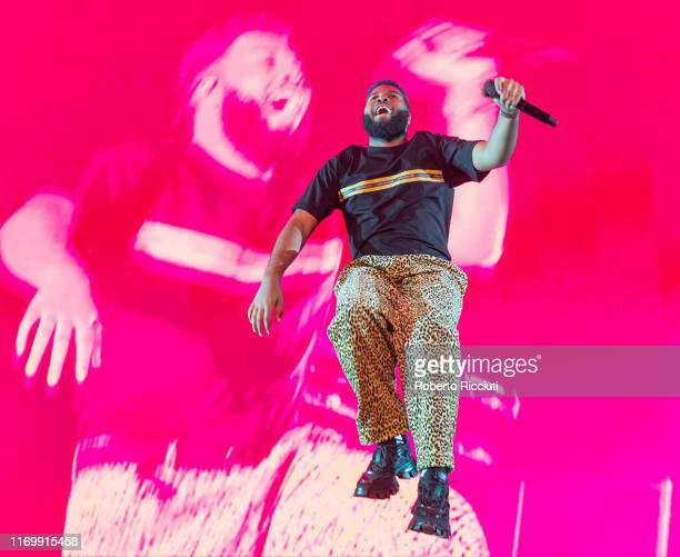Khalid performs on stage at The SSE Hydro on September 20 2019 in Glasgow Scotland