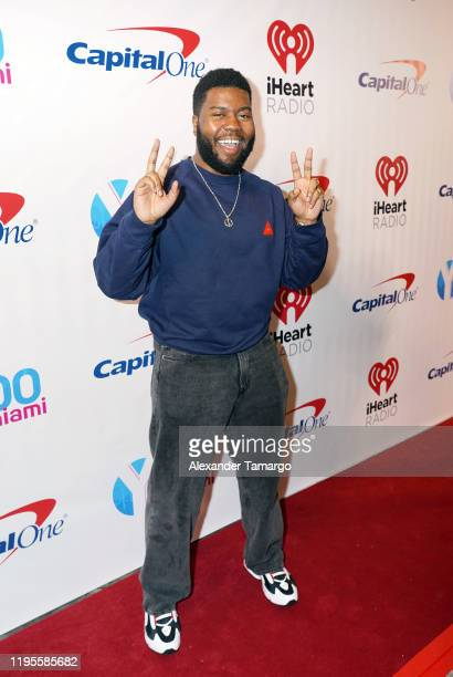Khalid performs on stage during Y100's Jingle Ball 2019 Presented by Capital One at BB&T Center on December 22, 2019 in Sunrise, Florida.