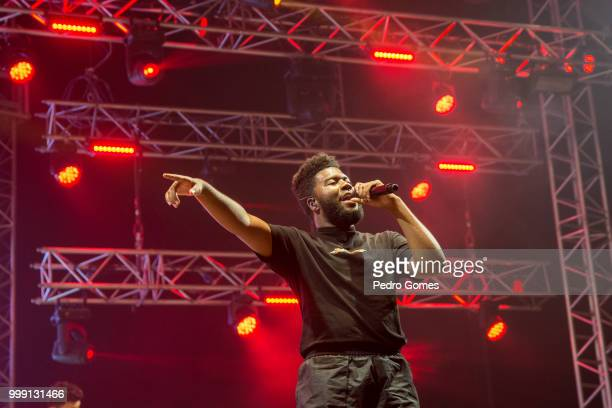 Khalid performs on the Sagres Stage on day 1 of NOS Alive festival on July 12 2018 in Lisbon Portugal
