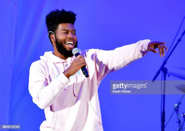 Khalid performs onstage at CBS RADIO's We Can Survive 2017 at The Hollywood Bowl on October 21 2017 in Los Angeles California