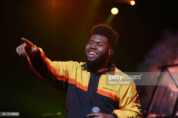 Khalid performs onstage at Radio City Music Hall on January 27 2018 in New York City