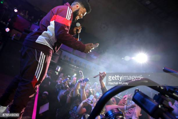 Khalid performs onstage at TMobile Presents Club Magenta Powered by Pandora at Exchange LA on November 19 2017 in Los Angeles California