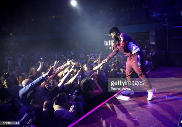 Khalid performs onstage at TMobile Presents Club Magenta Powered by Pandora at Exchange LA on November 19 2017 in Los Angeles California
