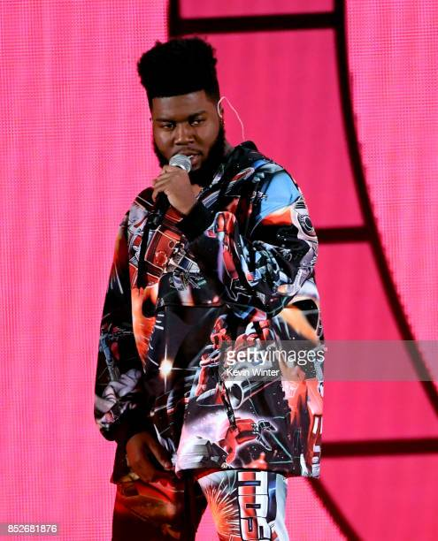 Khalid performs onstage during the 2017 iHeartRadio Music Festival at TMobile Arena on September 23 2017 in Las Vegas Nevada