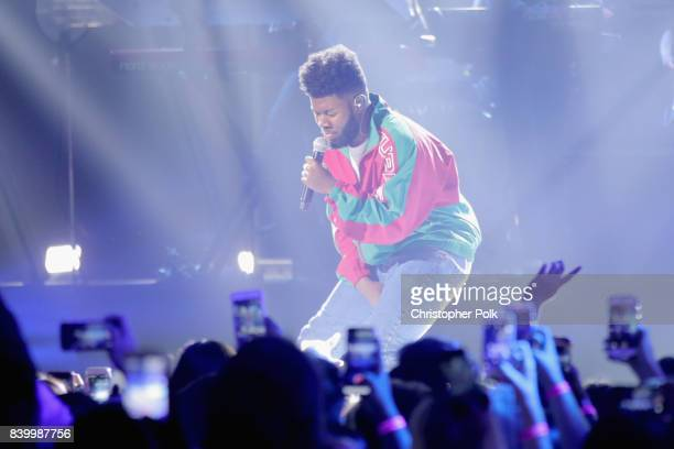 Khalid performs onstage during the 2017 MTV Video Music Awards at The Forum on August 27 2017 in Inglewood California