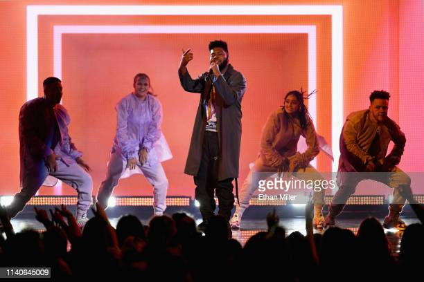 Khalid performs onstage during the 2019 Billboard Music Awards at MGM Grand Garden Arena on May 1 2019 in Las Vegas Nevada
