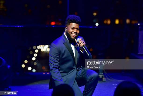 Khalid performs onstage during the Time 100 Gala 2019 at Jazz at Lincoln Center on April 23 2019 in New York City