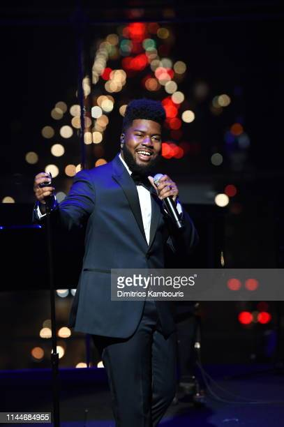 Khalid performs onstage during the TIME 100 Gala 2019 Dinner at Jazz at Lincoln Center on April 23 2019 in New York City