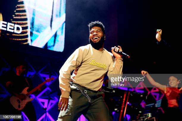 Khalid performs onstage during WiLD 949's FM's Jingle Ball 2018 Presented by Capital One at Bill Graham Civic Auditorium on December 1 2018 in San...