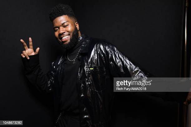 Khalid poses for a portrait at the American Music Awards at Microsoft Theater on October 9 2018 in Los Angeles California
