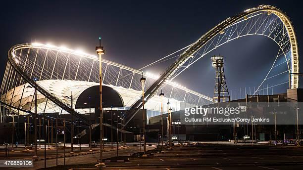 Khalifa International Stadium at night, Doha, Qatar, Middle East