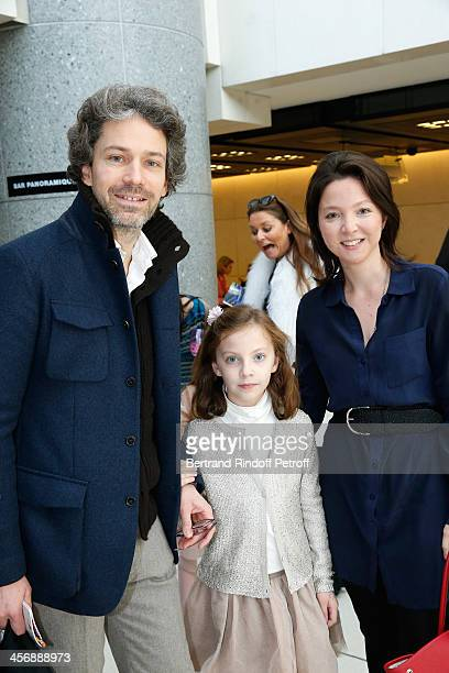 Khalil de Chazournes his wife Diane and their daughter Ariane attend the 'Reves d'Enfants' Arop charity event at Opera Bastille on December 15 2013...