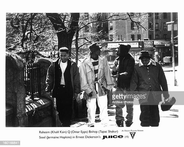 Khalil Kain Omar Epps Tupac Shakur and Jermaine Hopkins in a scene from the film 'Juice' 1992