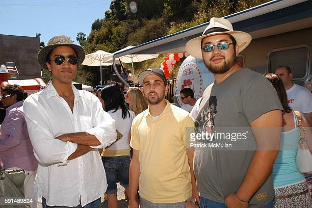 Khalil McGheeAnderson James Howard Starr and Maximillian Chow attend Virgin Mobile BBQ Tour Benefiting the Elton John AIDS Foundation at Sunset...