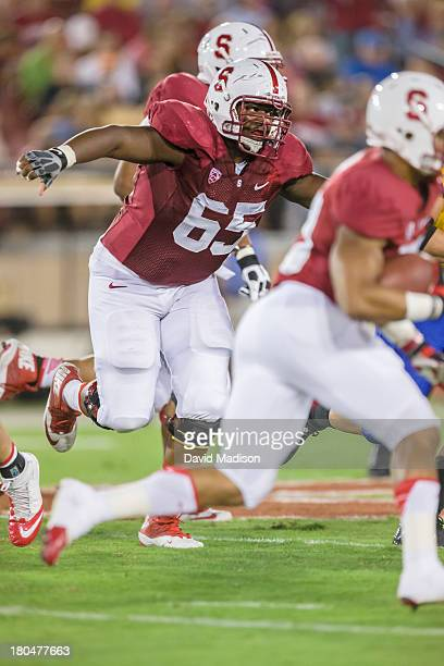 Khalil Wilkes of the Stanford Cardinal in action during an NCAA football game against the San Jose State Spartans played on September 7, 2013 at...