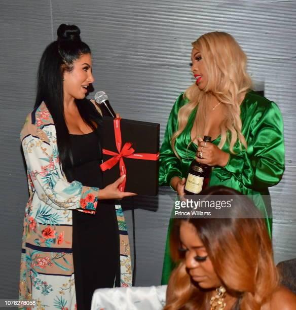 Khalilah AbdulBaqi and Amy Eslami attend a Privilege Toast Dinner on December 1 2018 in Atlanta Georgia