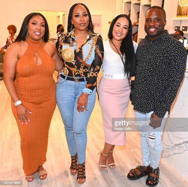 Khalilah Abdul-Baqi, Monyetta Shaw, Jennifer Drake, and Daryll Manning attend Saweetie x Matte Collection Launch at Matte Collection Store Phipps...