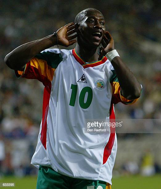 Khalilou Fadiga of Senegal in action during the France v Senegal Group A World Cup Group Stage match played at the Seoul World Cup Stadium Seoul...