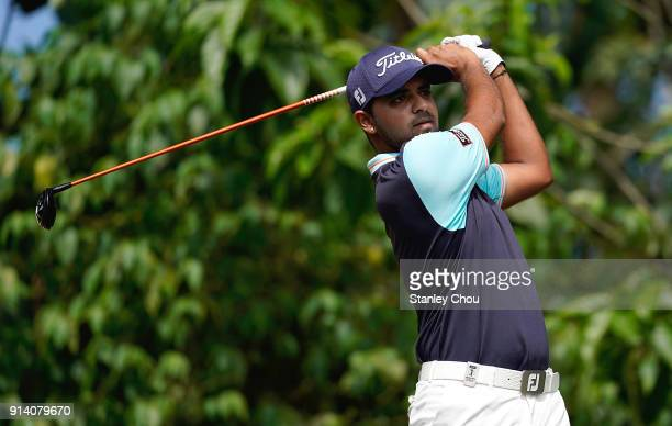 Khalin Joshi of India in action during day four of the Maybank Championship Malaysia at Saujana Golf and Country Club on February 4 2018 in Kuala...