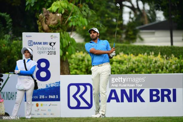 Khalin Joshi of India pictured during the first round of the Bank BRI Indonesia Open at Pondok Indah Golf Course on July 12 2018 in Jakarta Indonesia